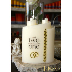 Wedding Candle, 2 wicks