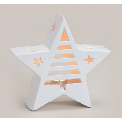 Candle Holder Star, ceramic