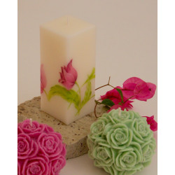 Rose ball candle, 10cm