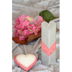 Hart shape candles