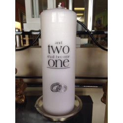Wedding candle white or ivory