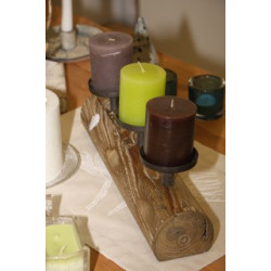 Wooden Holder for 3 Candles