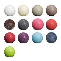 Ball candles, frosted, 8cm